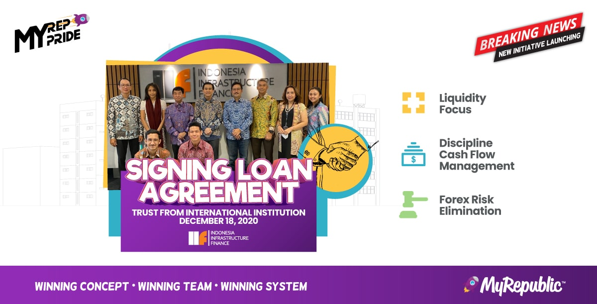 Signing Loan Agreement