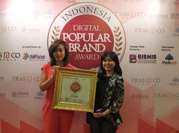 MyRepublic Raih Indonesia Popular Digital Brand Award 2016
