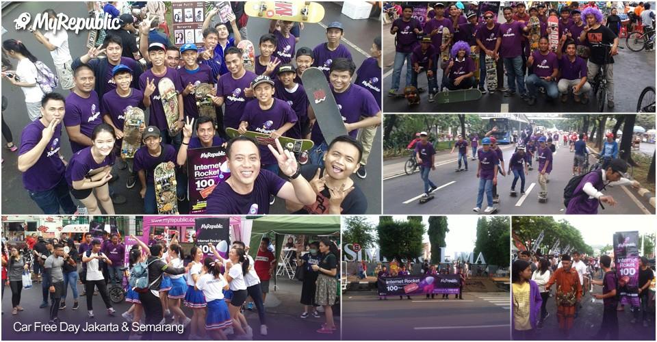 MyRepublic on Car Free Day Jakarta & Semarang